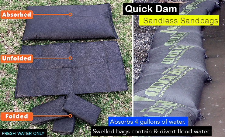 quick dam water barrier flood protection